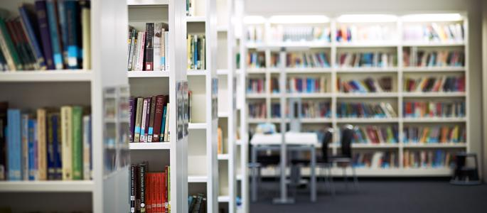 A view of the inside of the Hive library, an excellent resource for students on our English Literature degree and more.