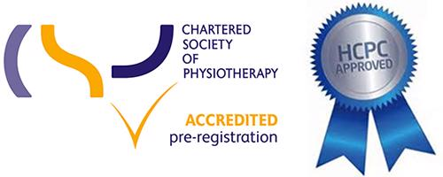 Charted Society of Physiotherapy Accredited Pre-Registration Logo