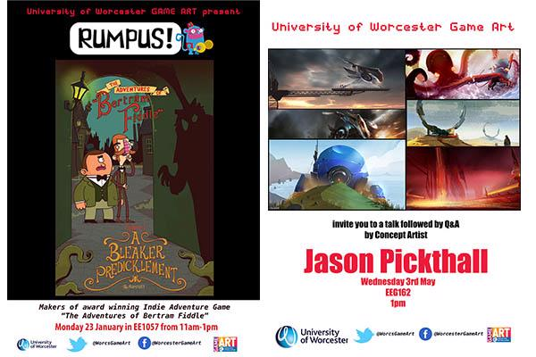 Promotion for a Game Art visiting speaker - Jason Pickthall