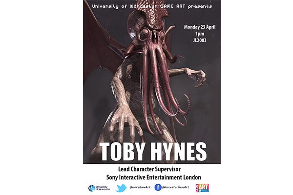 Promotion for Game Art visiting speaker - Toby Hynes