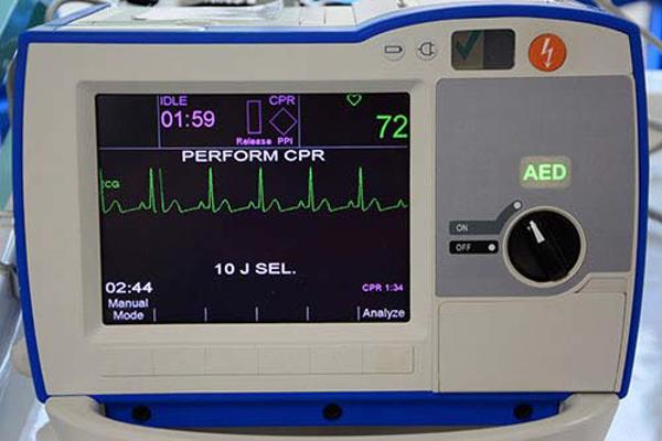 An ECG machine used for paramedic training on our paramedic science degree.