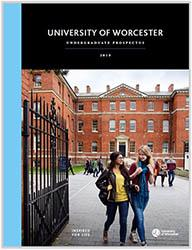 Cover of the 2019 University of Worcester Prospectus