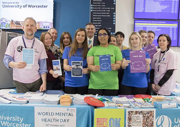 Some of the student support team at World Mental Health Day
