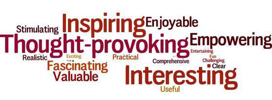 "A net of inspiring words such as ""empowering"" and ""Interesting"""