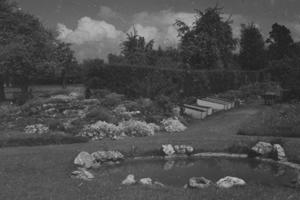 Henwick House gardens in the 1950s