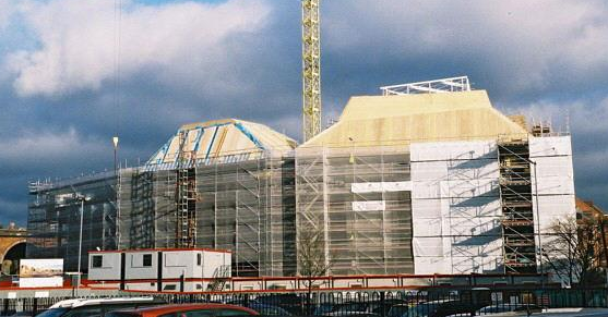 The Hive when it was under construction.