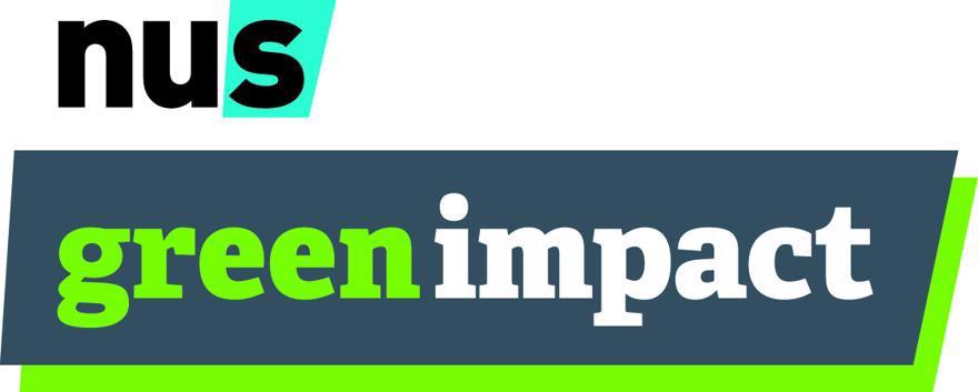"The logo for ""Green Impact"" next to the logo for the ""National Union of Students."""