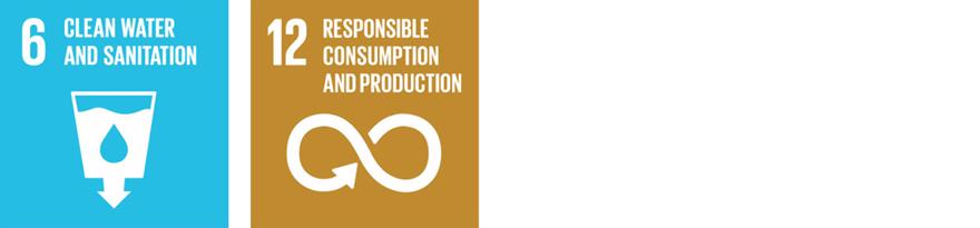 The SDG logos for 6.Clean Water and Sanitation and 12.Responsible Consumption and Production
