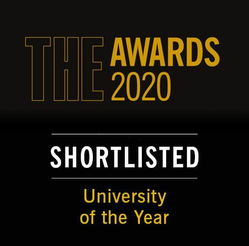 THE Awards 2020. Shortlisted. University of the Year