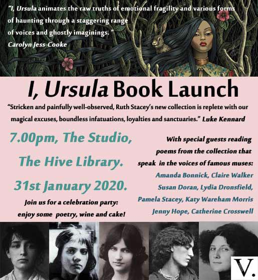 A poster for the Ursula poetry collection. All of the information for this poster is written within the event listing