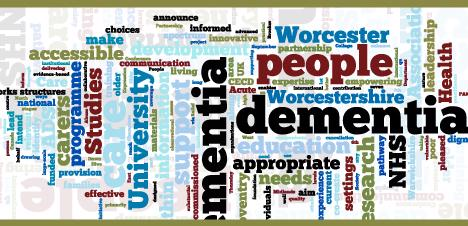 Wordle Dementia studies poster