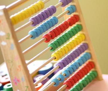 A close up image of an abacus