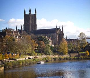 Cathedral beside the river